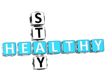 3D Stay Healthy Crossword on white background Stock Photo - 9341047