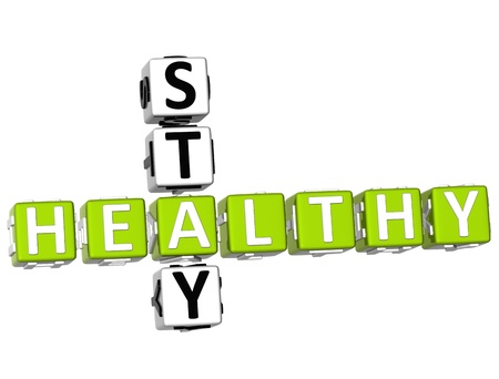 3D Stay Healthy Crossword on white background Stock Photo - 9341043