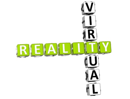 reality: 3D Reality Virtual Crossword on white background