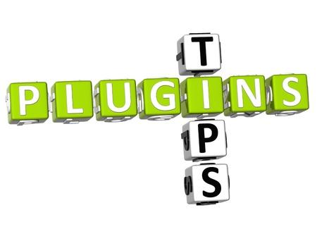 plugin: 3D Plugin Tips Crossword on white background