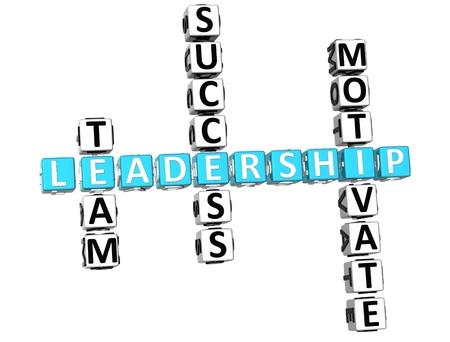 buzzword: 3D Leadership Crossword on white background