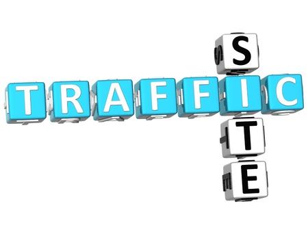 3D Traffic Site Crossword on white background Stock Photo - 9752805