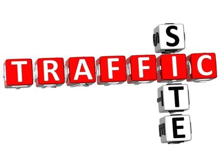 3D Traffic Site Crossword on white background Stock Photo - 9752810