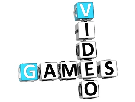 3D Video Games Crossword on white background Stock Photo - 9752801