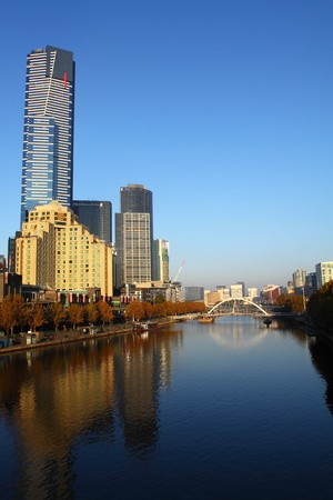 Melbourne City in Autumn
