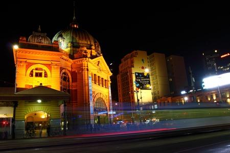Melbourne City Lights over the Yarra River, Night, Australia photo