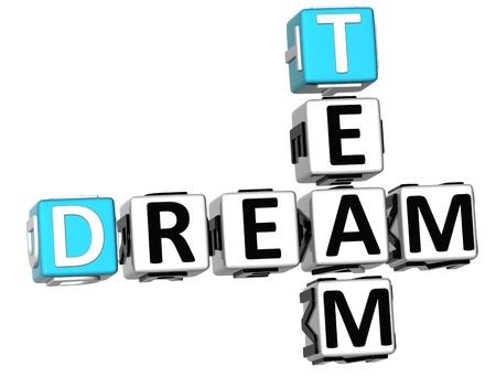 3D croisés Dream Team sur fond blanc