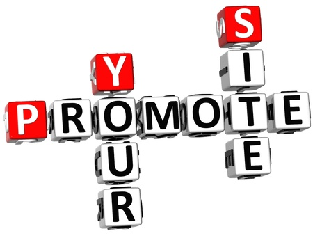 promover: 3D Promote Your Site Crossword on white background