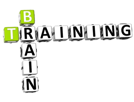 brains: 3D Brain Training Crossword on white background
