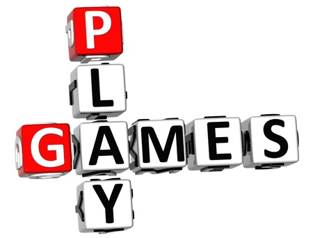 game show: 3D Play Games Crossword on white background
