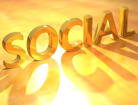 weblogs: Gold Social text  Stock Photo