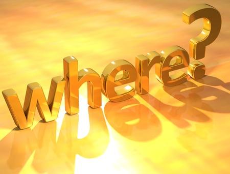 Gold where text Stock Photo - 9887751