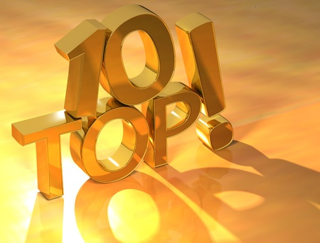 Top 10 Gold Text Stock Photo - 9887749