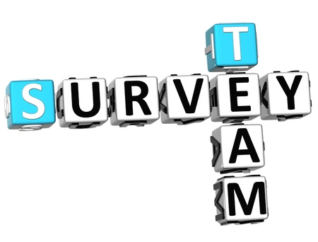 3D Team Survey Crossword  on white background Stock Photo - 10388989