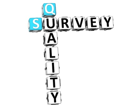 3D Quality Survey Crossword  on white background Stock Photo - 10388962