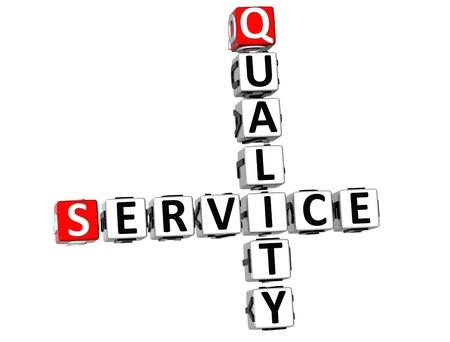 3D Quality Survey Crossword  on white background Stock Photo - 10388972