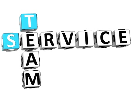 3D Service Team Crossword on white background Stock Photo - 10388979