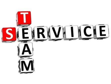 3D Service Team Crossword on white background Stock Photo - 10388980