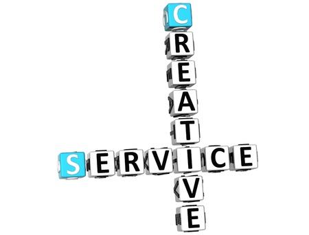 3D Creative Service Crossword on white background Stock Photo - 10388965