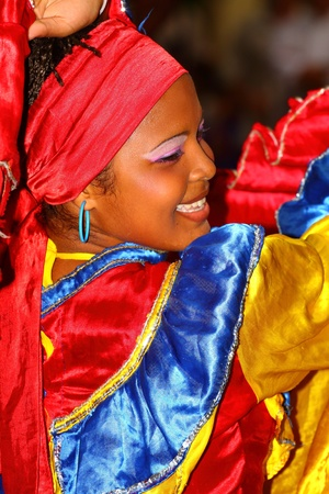 Colombian traditional dance at the Parade in Cartagena de Indias.August 15, 2011 in Colombia. photo