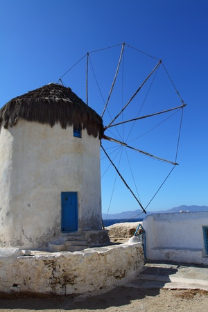 Windmills of sunny Mykonos (Greece, Cyclades) photo