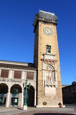 Historic tower bell, old town, Bergamo, Lombardy, Italy  photo
