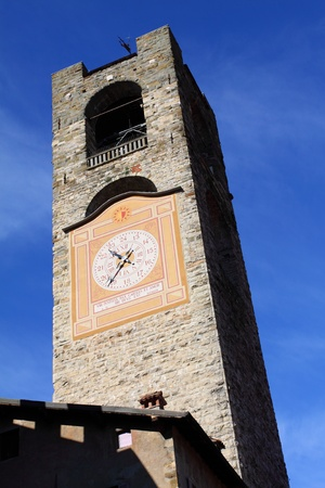 Bergamo building in Italy photo