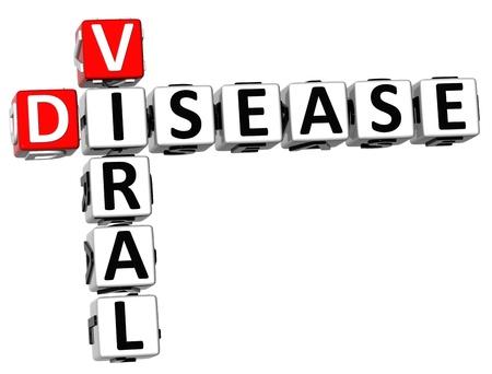 viral disease: 3D Viral Disease Crossword on white background
