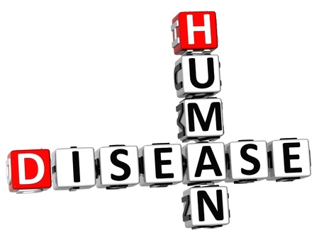 3D Human Disease Crossword on white background photo