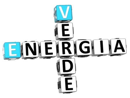 3D Energia Verde Crossword on white background photo