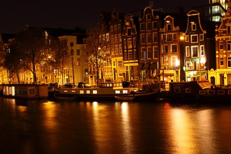 Amsterdam at night, The Netherlands  photo
