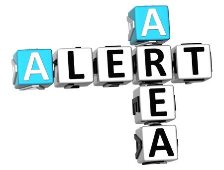 3D Alert Area Crossword on white background Stock Photo - 11240334