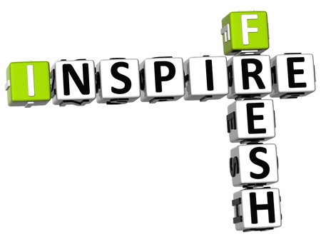 3D Fresh Inspire Crossword on white background Stock Photo - 11240314