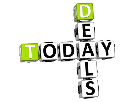 3D Today Deals Crossword on white background Stock Photo - 11491026