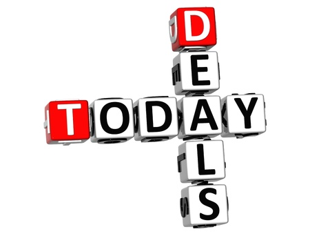 3D Today Deals Crossword on white background Stock Photo - 11491029