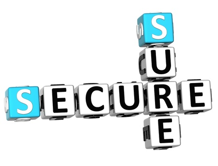 buzzword: 3D Secure Sure Crossword on white background