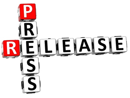 publishes: 3D Press Release Crossword on white background Stock Photo