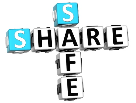 3D Share Safe Crossword on white background Stock Photo - 11491438