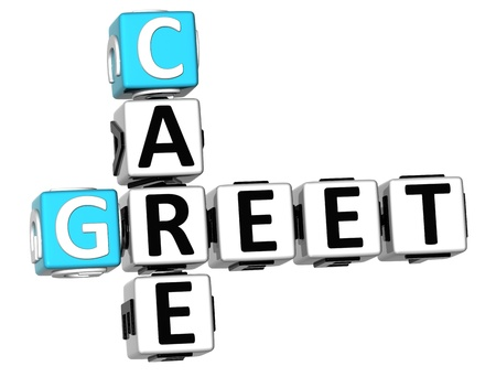 greet: 3D Greet Care Crossword on white background