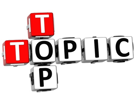 3D Top Topic Crossword on white backgound Stock Photo - 11491547