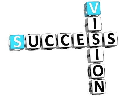 ingenuity: 3D Success Vision Crossword on white backgound