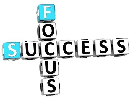 ingenuity: 3D Success Focus Crossword on white backgound Stock Photo