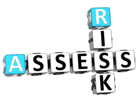 3D Assess Risk Crossword on white backgound Stock Photo - 11491551