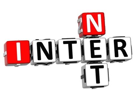 3D Inter Net Crossword on white background Stock Photo - 11735564