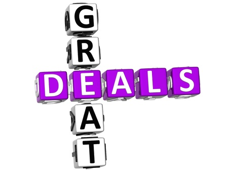 3D Great Deals Crossword on white background photo