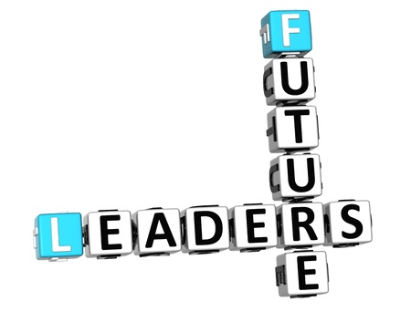 3D Future Leaders Crossword on white background Stock Photo - 11735714