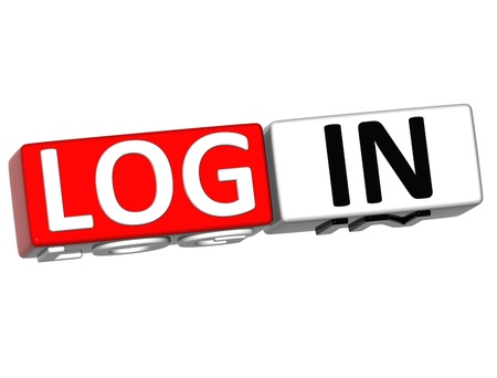 3D Log in out over white background Stock Photo - 11841612