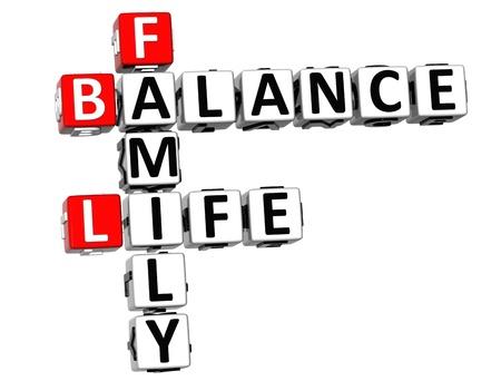 3D Balance Life Family Crossword on white background Stock Photo - 11841649