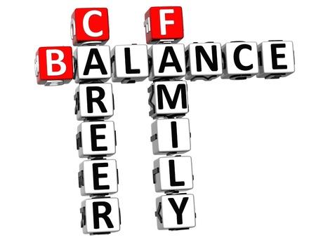 3D Balance Life Family Crossword on white background Stock Photo - 11841660