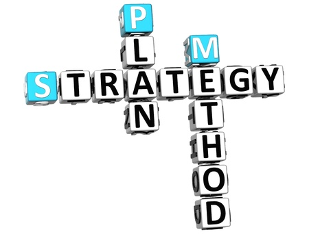 3D Career Strategy Crossword on white background photo